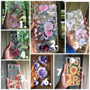 iPhone XS Max clear floral case
